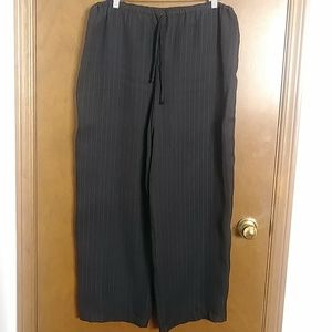 Stretchy drawstring wide leg trousers